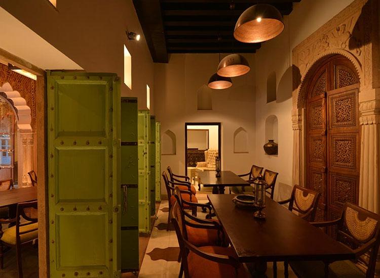 Dining area of Haveli Dharamputa